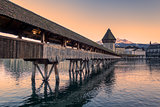 Lucerne. Image of Lucerne, Switzerland during twilight blue hour