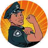 we can do it black policeman African American pop art avatar cha