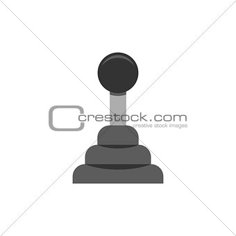 Car transmission icon flat
