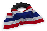 gear wheel and flag of thailand - 3d rendering