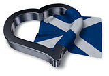 flag of scotland and heart symbol - 3d rendering