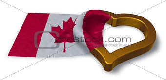 flag of canada and heart symbol - 3d rendering