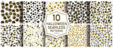 Set of 10 halloween seamless patterns.