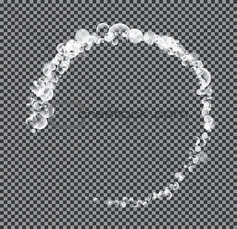 Abstract Circle on Transparent Background.