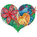 Sketchy Doodle Heart Illustration