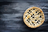 Blueberry Pie With Copy Space