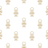 British royal guardsman seamless vector pattern.