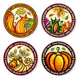 Autumn round drink coasters