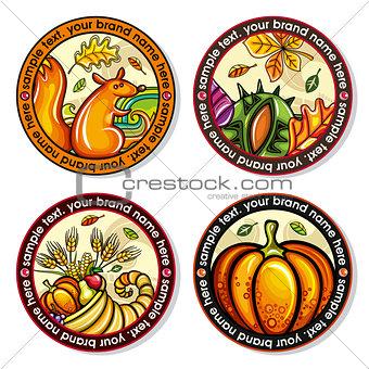 Autumn round drink coasters