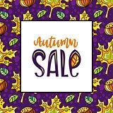 Autumn sale card