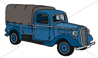 Old blue small truck