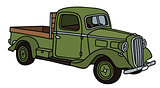 Old green small truck