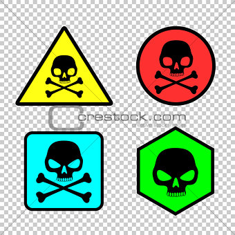 Skull sticker icon set