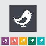 Bird flat icon.