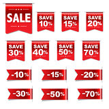 Discount Red Labels Set