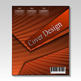 Abstract cover design.Vector template.