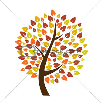 Autumn tree icon vector illustration