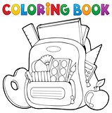 Coloring book schoolbag theme 1