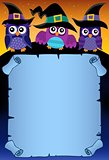 Halloween parchment with owls theme 3