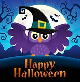 Happy Halloween sign thematic image 1