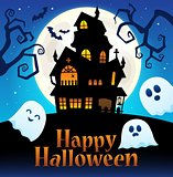 Happy Halloween sign thematic image 2