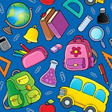 School theme seamless background 2