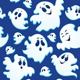 Seamless background with ghosts 3