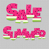 Summer And  Sale Text