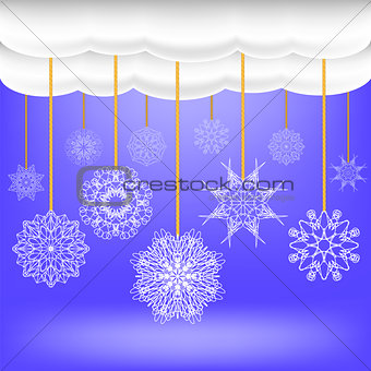 Abstract Winter Snow Background.