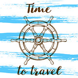 Travel background with handwheel