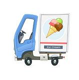 Small Truck refrigerator for delivery ice cream
