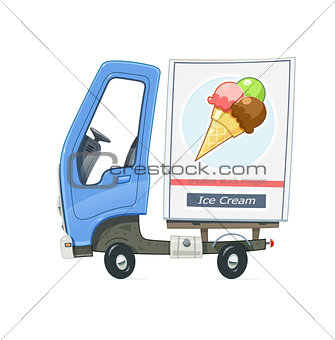 Small Truck refrigerator for delivery ice cream