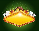 Golden vector casino vegas sign