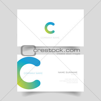 Business card template vector simple