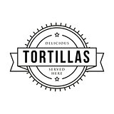 Toritillas vintage stamp sign