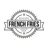 French fries vintage sign