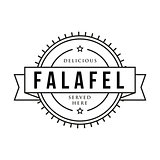Falafel vintage sign stamp