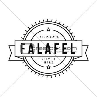 Falafel vintage sign stamp