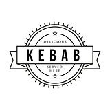 Kebab vintage stamp sign