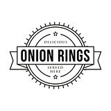 Onion rings vintage stamp sign