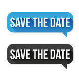 Save the Date speech bubble