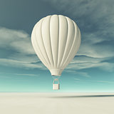 White hot air balloon
