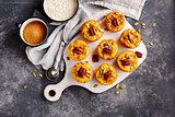 Freshly baked pumpkin muffins