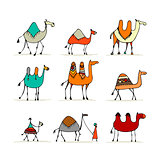 Camel set, sketch for your design