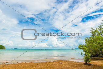 Beautiful clouds over the Andaman Sea, beautiful scenery