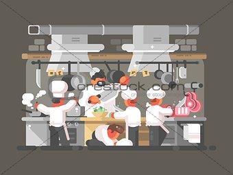 Kitchen of restaurant