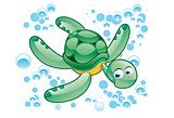 green turtle cartoon