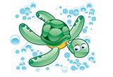 green turtle cartoon