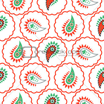 Paisley pattern seamless vector.