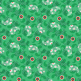 Paisley green mesh pattern seamless vector.